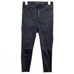 American Eagle High Waisted Distressed Skinny Jean